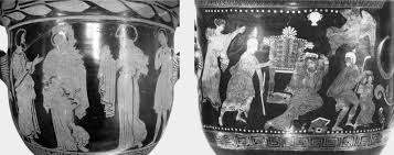 la tradizione classica nella memoria occidentale n  8 glauke receiving the fatal gifts by medea lucanian r f bell crater from apulia attributed to the dolon painter ca 390 bc