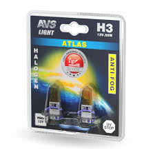 Комплект галогенных <b>ламп AVS ATLAS</b> ANTI-FOG <b>H3</b> (A78622S ...