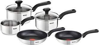 Tefal <b>5 Piece</b>, Comfort Max, <b>Stainless Steel</b>, Pots and Pans ...