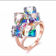 korean new purple crystal water drop earrings cute romantic flower shape pendant earring