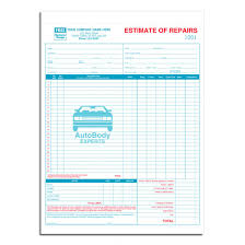 estimate forms customized estimate forms general standard detailed labor and parts auto estimate forms
