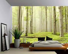 <b>3d photo wall mural</b> green tree nature landscape <b>wall</b> papers ...