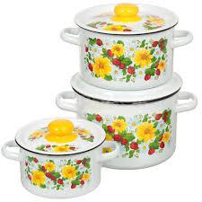 <b>Набор эмалированной посуды</b> СтальЭмаль Земляника 1с144 ...