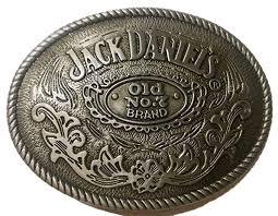 Jack Daniels Belt Buckle antique silver color Old No.7 ... - Amazon.com