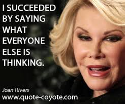 Funny Joan Rivers Quotes. QuotesGram via Relatably.com