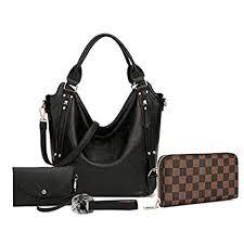 Women <b>Handbags</b> Hobo Shoulder <b>Bags</b> Tote Synthetic <b>Leather</b> ...