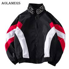 <b>Aolamegs Jackets Men Patchwork</b> Jacket Tracksuit High Street ...
