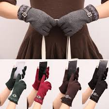 <b>2017 New</b> Arrival Cotton Weaved Knit Touchscreen Wrist-<b>Gloves</b> ...