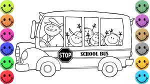 Small Picture School Bus Coloring Pages Drawing for Kids Learn Colors YouTube