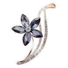 Online Shop <b>CINDY XIANG</b> Rhinestone Flower Brooches For ...