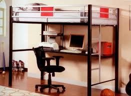 cool bunk bed with desk underneath amazing loft bed desk
