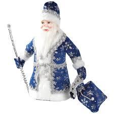 Украшение новогоднее «<b>Дед Мороз под</b> ёлку» 40 см синий в ...