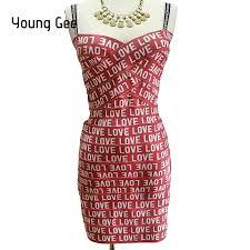 <b>Young Gee</b> Summer 2 Piece Set <b>Women</b> LOVE Printed Bandage ...