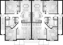 Marland Multi Family Fourplex Plan D    House Plans and MoreNeoclassical Home Plan Second Floor   D    House Plans and More
