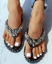 Studded Toe Post Flat Sandals joyshoetique, арт e0c0d793-0284 ...