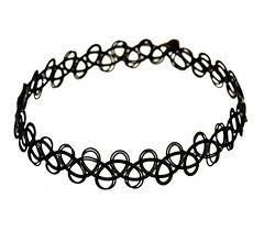 Live It Style It <b>Black</b> Tattoo <b>Choker</b> Stretch <b>Necklace</b> Bracelet Ring ...