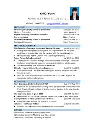 cv template resume major economics and management career and job appl