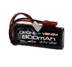 Venom <b>25C</b> 1S <b>800mAh 3.7V LiPo Battery</b> with Micro and JST Plugs ...