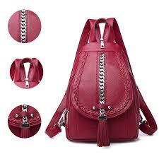 2019 Female <b>Backpack Designer High Quality</b> Leather Women Bag ...