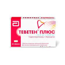 <b>Теветен Плюс</b> таблетки <b>п</b>.<b>п.о</b>. <b>600мг</b>+12,5мг 28 шт. купить <b>по</b> ...