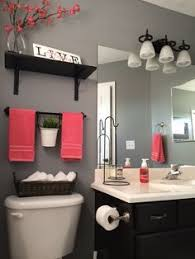 decorating ideas red gray
