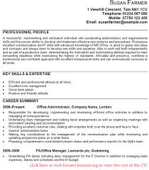 Office Administrator CV Example Good luck.