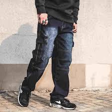 Японский стиль, мужские прямые джинсовые <b>брюки</b> карго, мото ...
