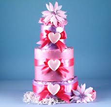 """""""<b>Little Heart</b> of Mine"""" Diaper Cake 