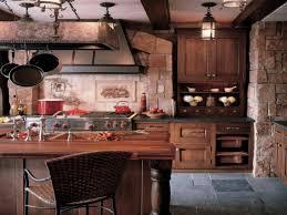 kitchen ideas dark wooden cabinets idea