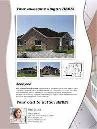 real estate flyer template beige