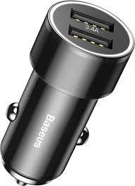 Автомобильное <b>зарядное устройство Baseus Small</b> Screw 3.4A ...