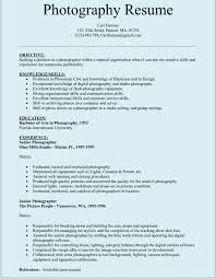 sample photographar resume photography resume template