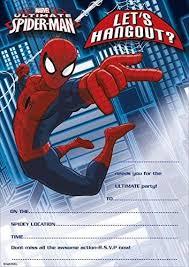 MARVEL ULTIMATE <b>SPIDER-MAN</b> PARTY INVITATIONS