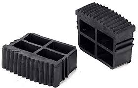 <b>2pcs Black Rubber</b> Inner Plug Foot Pad Replacement Step Ladder ...