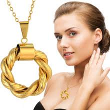 1Pcs New Trendy <b>Gold</b> Color High Quality Round Hollow Twisted ...