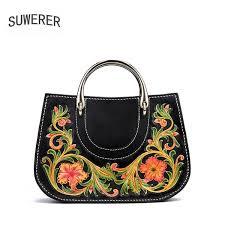 <b>SUWERER 2019 New Women</b> Genuine Leather Bags Handmade ...
