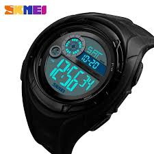 SKMEI 1470 <b>Sport Watch</b> Men Military <b>5Bar</b> Waterproof Alarm Clock ...