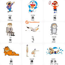 mandarin chinese words list verbs touchchinese action 2