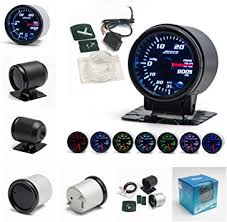 12V <b>Universal Car</b> Turbo Boost Pressure Gauge Round 7 Colors ...