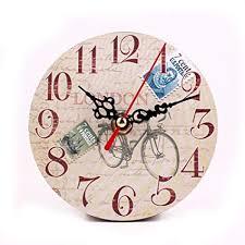 Ocamo Retro Wooden Round Wall Clock for Bedroom ... - Amazon.com