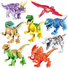 PBOX 8-Pcs Dinosaur Building Blocks Action Figures ... - Amazon.com