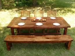 Farm Style Dining Room Tables Custom Made Farmhouse Style Dining Table And Bench By Minnesota