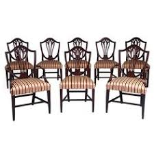 hepplewhite shield dining chairs set: view this item and discover similar dining room chairs for sale at set of eight english shield back dining chairs six sides and two arms