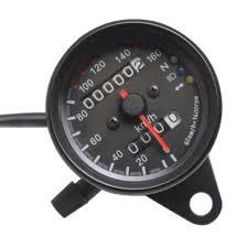 Universal <b>Motorcycle Speedometer Odometer 12V</b> Motorcycle Dual ...