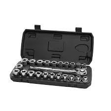 HART 23-Piece <b>1/2</b>-<b>inch Drive</b> Mechanics Set with Ratchet, Chrome ...