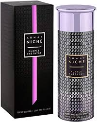 <b>armaf niche purple amethyst</b> deodorant body spray for women 200 ml