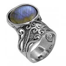 <b>Кольцо</b> из <b>серебра 925</b> пробы с <b>лабрадором</b> в ювелирном ...