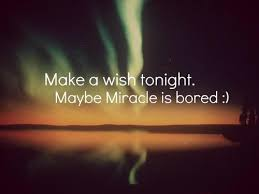 Wishes Quotes - Make a wish tonight. Maybe Miracle is bored :)