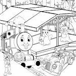 Распечатать паровозик раскраска для детей