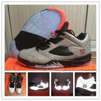cheap free shipping cheap new retro 5 v 5s low neymar space 3m reflective effect cement cheap lighting effects